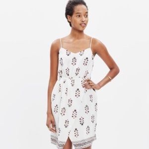 Madewell Silk Sandstar Dress in Vinefloral
